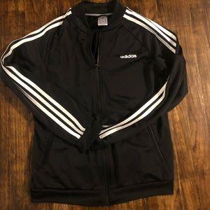 EUC Adidas track jacket zip up black size medium